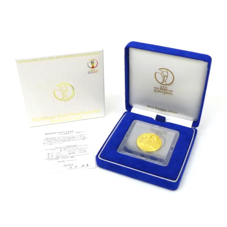 金貨 H14 FIFAワールドカップ 1万円金貨プルーフ 記念貨幣(44705)