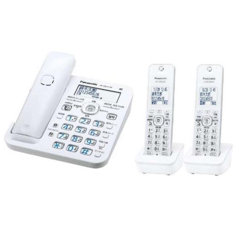 パナソニック コードレス電話機 ル・ル・ル 子機2台 VE-GZ51DW-W ホワイト(45295)