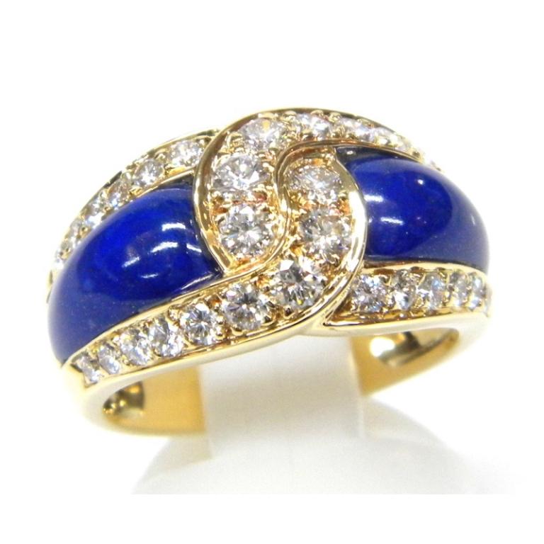 ヴァンクリーフ&アーペル VCA 指輪 750YG ラピスラズリダイヤモンド D0.95ct #15【中古】(25641)(25641)