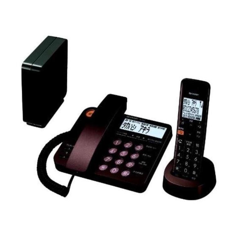 シャープ デジタルコードレス電話機 子機1台 JD-XG1CL-T ブラウン系(45341)