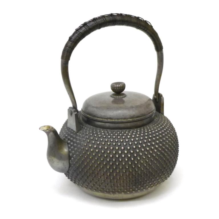 純銀 やかん 茶器 鉄瓶 湯沸 【中古】(46207)