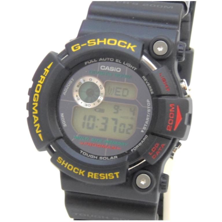 カシオ Casio メンズウォッチ 腕時計 G-SHOCK FROGMAN GW-200Z-1JF 黒 【中古】(48191)