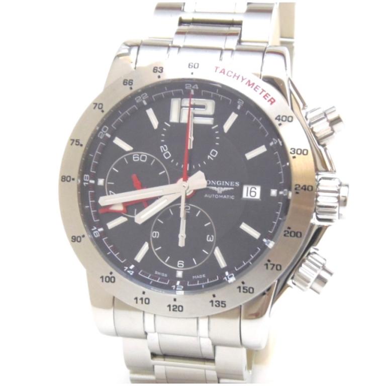 ロンジン 腕時計 アドミラル クロノ 自動巻 SS L3.670.4 黒盤 ステンレススチール 【中古】(48308)