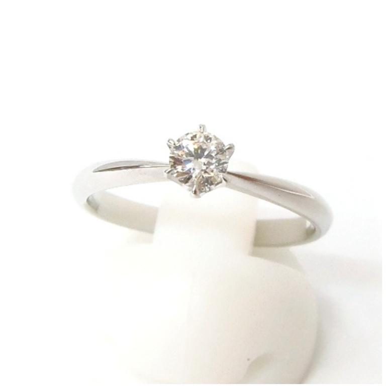 指輪 ダイヤモンド立爪リング 0.249ct、GSI-1、EX /プラチナ/Pt900 【中古】(48974)