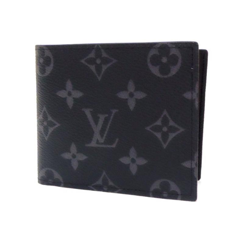 【新品】ルイ・ヴィトン LOUISVUITTON 二つ折り財布 M62545 ポルトフォイユ・マルコ NM エクリプス(49302)