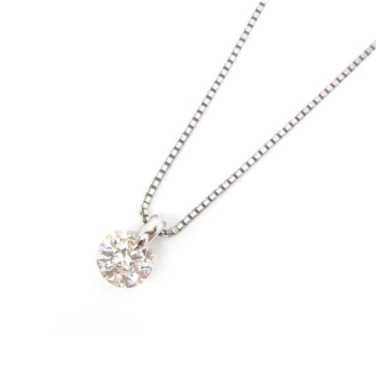 ダイヤモンドプチネックレス 1.176ct H、SI2、Good /プラチナ/Pt850、Pt950【中古】(49932)