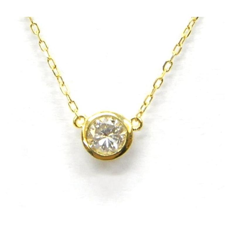 ダイヤモンドネックレス D0.25ct 1.4g ゴールド/K18 レディース 【中古】(34538)(34538)