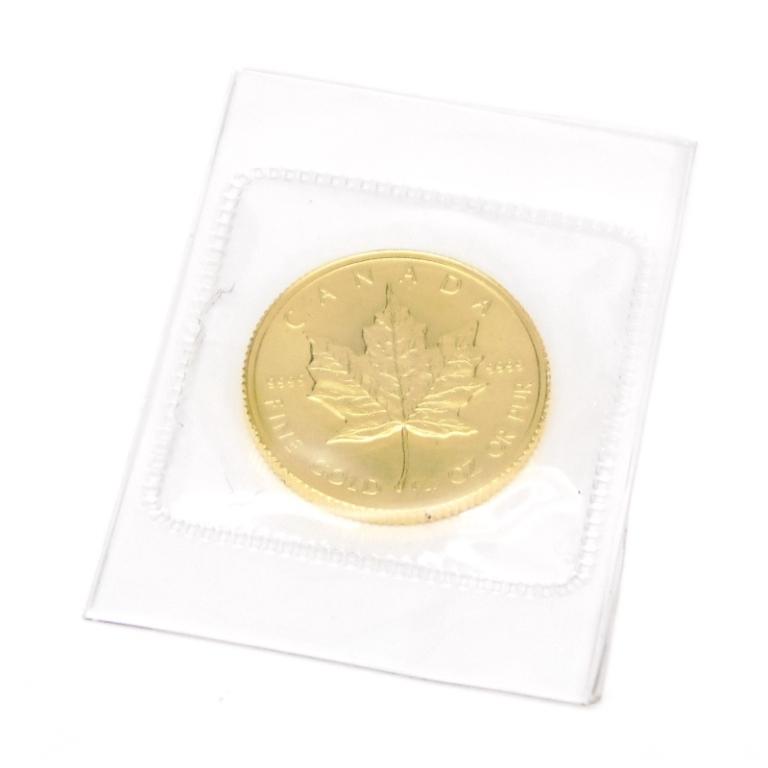 メイプルリーフ金貨 1/4oz メープルリーフ金貨 1/4オンス 1983 レア(52870)