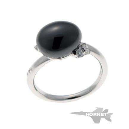 ポメラート カプリ ブラックセラミック ダイヤ リング ホワイトゴールド CE / 750WG 【中古】 1810194