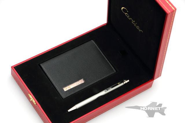カルティエ サントス ボールペン カードケース セット ST150196 【中古】 1810274
