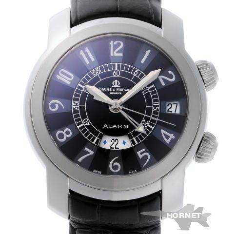 ボーム&メルシエ ケープランド GMT アラーム オートマチック MOA08282 ブラック SS 【中古】【時計】 1810305