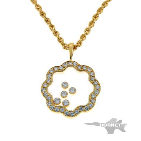 ショパール ハッピーダイヤモンド 5P ネックレス イエローゴールド 750YG 【中古】 1820105