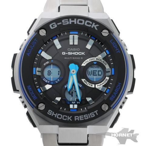 CASIO カシオ G-SHOCK Gショック Gスチール タフソーラー GST-W100D-1A2JF ブラック文字盤 SS 【中古】【時計】 1820153