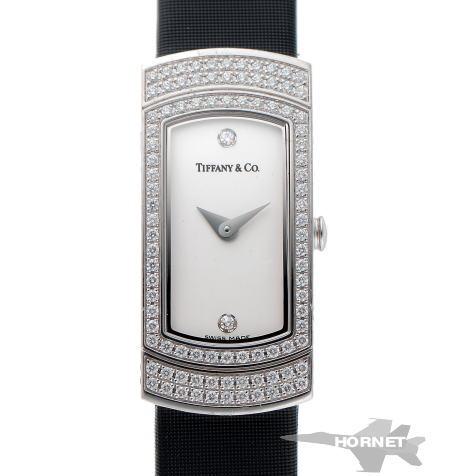 ティファニー カクテル ウォッチ ダイヤ クォーツ シルバー文字盤 750WG 【中古】【時計】 1810362
