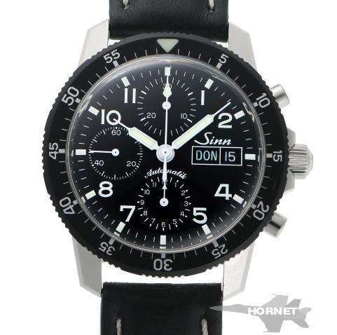 Sinn ジン 103 クロノグラフ デイデイト オートマチック 103.B.AUTO ブラック文字盤 SS 【中古】【時計】 1810428