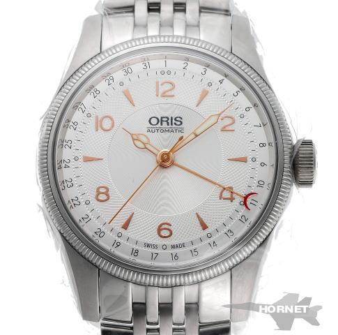 ORIS オリス ビッグクラウン ポインターデイト オートマチック 01 754 7696 4061 シルバー文字盤 SS 【中古】【時計】 1810449