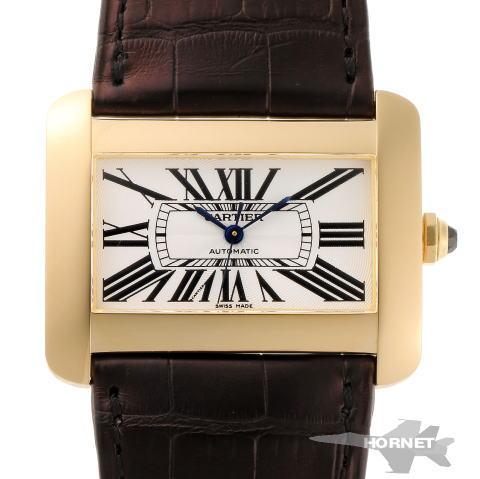 Cartier カルティエ タンク ディヴァン LM オートマチック W6300556 シルバー文字盤 750YG 【中古】【時計】 1820232