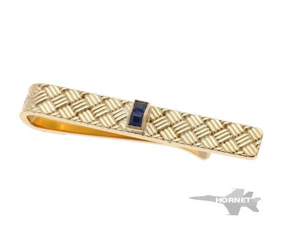 Tiffany&Co. ティファニー サファイア タイピン イエローゴールド 750YG 【中古】 1910142