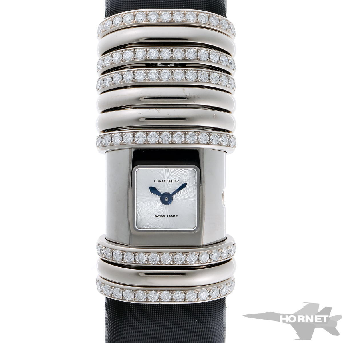 Cartier カルティエ デクラレーション ダイヤモンド クォーツ WT000450 シルバー文字盤 750WG / TI 【中古】【時計】 1910314