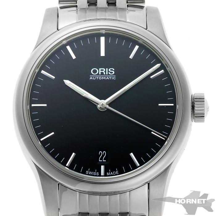 ORIS オリス クラシック オートマチック 01.733.7578.4054 ブラック文字盤 SS 【中古】【時計】 1910370