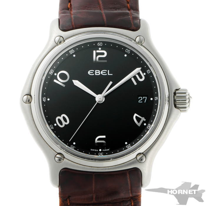 EBEL エベル 1911 ウォッチ クォーツ E9187241 ブラック文字盤 SS 【中古】【時計】 2010014