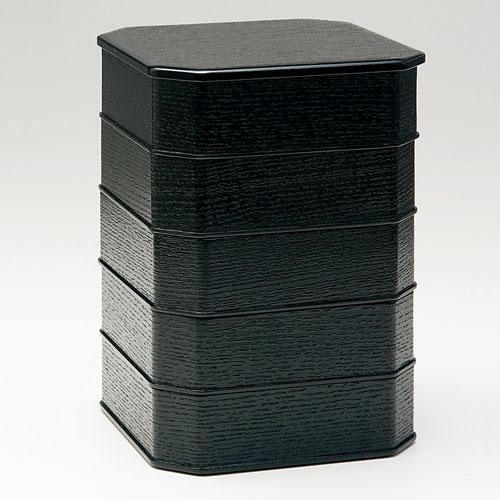 茶道具 菓子器 縁高重 柿合(段付)