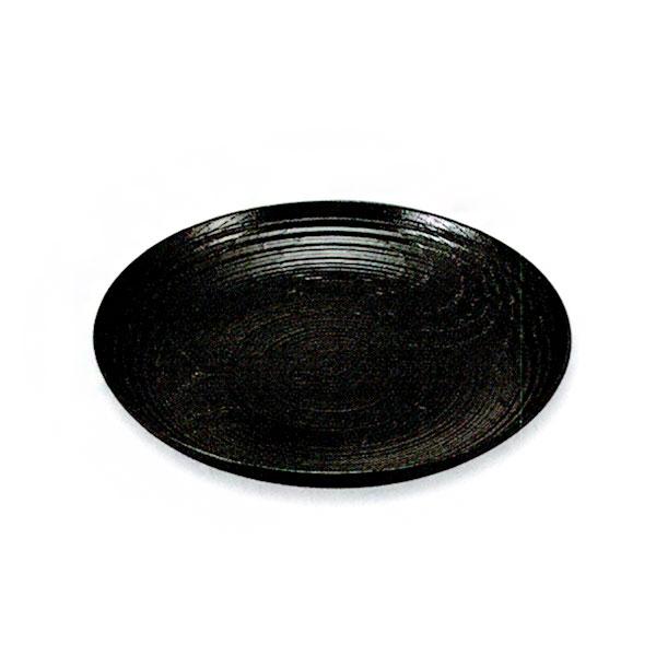 5.0寸 銘々皿 縮緬皿 黒 5枚
