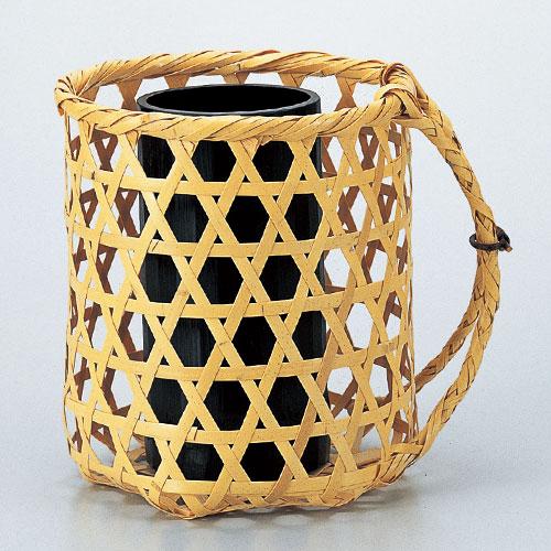 【保証書付】 茶道具 籠花入 背負籠 白竹(塗竹入子), クマコウゲンチョウ 104dfb81