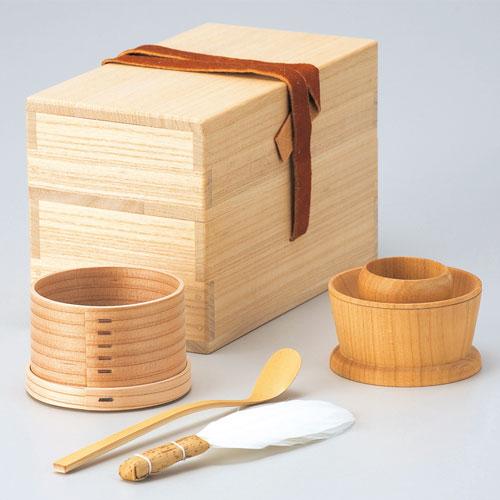 茶掃箱セット 鹿皮(生地茶漏斗)