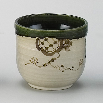 水屋瓶 織部(大) 加藤五陶作