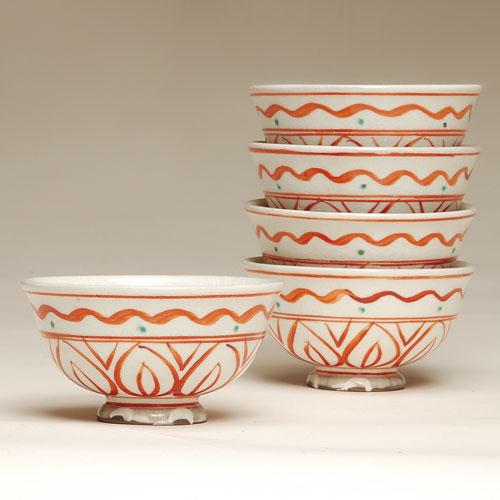茶道具 抹茶碗 数茶碗 赤絵 10客 太仙作