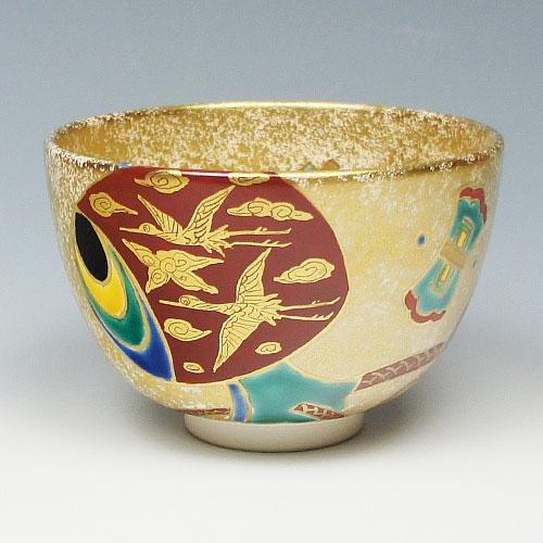 茶道具 抹茶碗 茶碗 金砂子 打出小槌 加藤幸治作