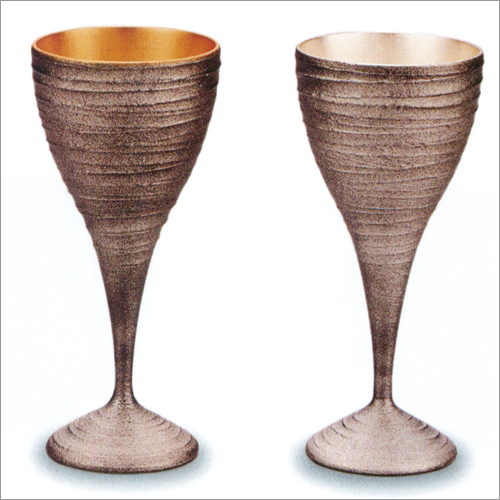 ワインカップ ペア(2個) 銀嵯美 内 金箔・銀箔