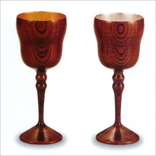 ワインカップ ペア(2個) 欅 宝来 内 金箔・銀箔