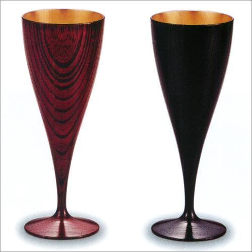 ワインカップ ペア(2個) 欅(けやき) 響樹 内 金箔