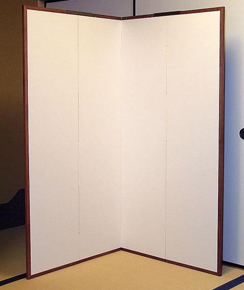 茶道具 屏風 四枚折れ屏風 大 高さ 175cm