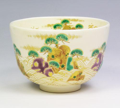 茶道具 抹茶椀 茶碗 仁清 松島 南口閑粋作