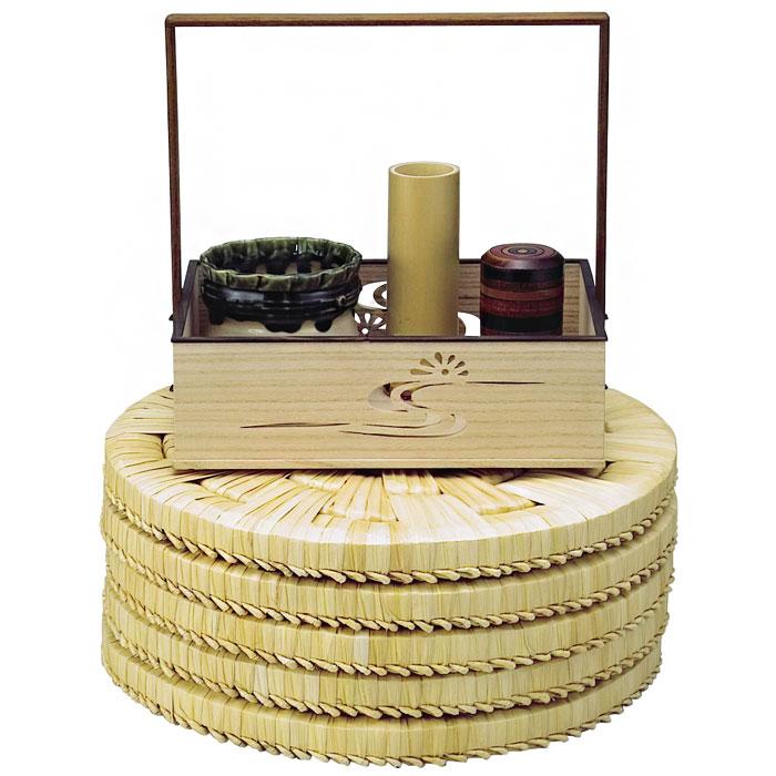 茶道具 露地の道具/水屋道具 円座 尺一 五枚組