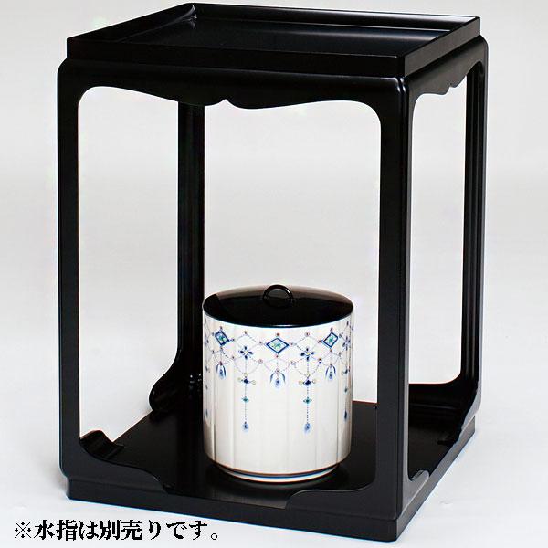 茶道具・棚 高麗卓 (御幣付)〔棚ピタット付〕 小川湖舟作