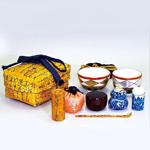 茶道具 茶籠 一閑張茶籠セット(紙箱)