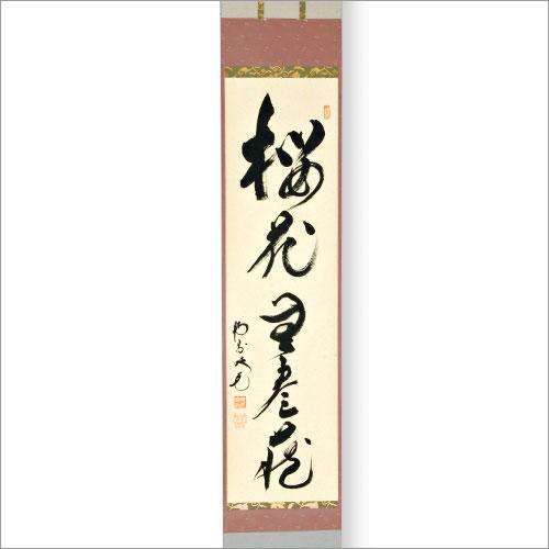 茶道具 掛軸 軸一行「桜花無尽蔵」田島碩應老師・堺 南宗寺(大徳代526世)