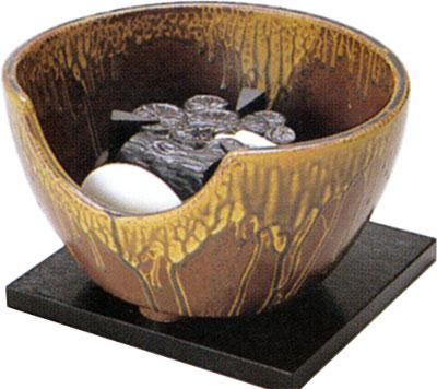 茶道具 紅鉢風炉 伊羅保(強弱切替スイッチ付)