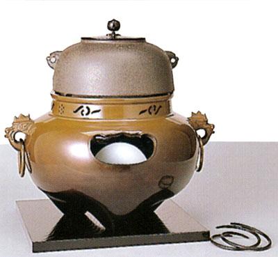 茶道具 唐銅鬼面風炉