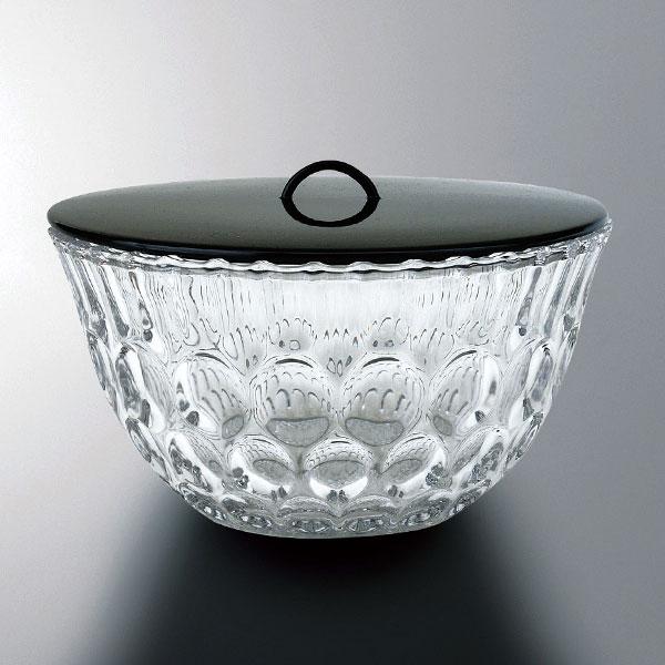 夏・ガラスの茶道具 義山平水指 水玉 長寿作