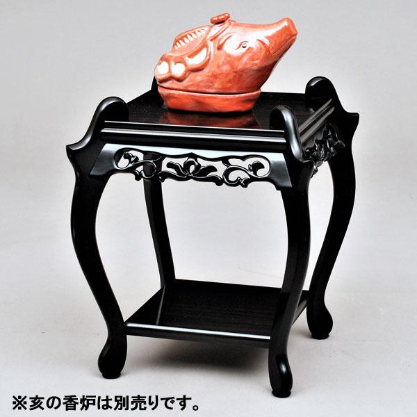 【茶道具 香炉台】香炉台 黒檀 中卓
