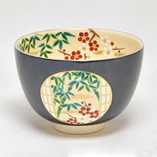 【茶道具 抹茶碗】茶碗 掛分色絵 光の庭 新井京華作