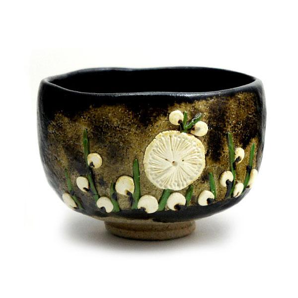 茶道具 掘り出し物市 茶碗 黒楽 梅 高台寺窯