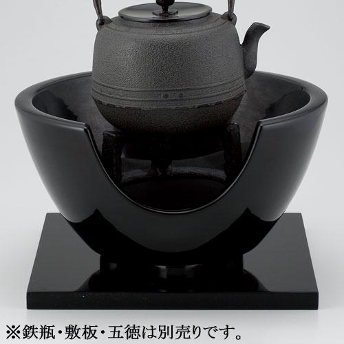 茶道具 風炉 紅鉢 黒 尺丸 宗伴作