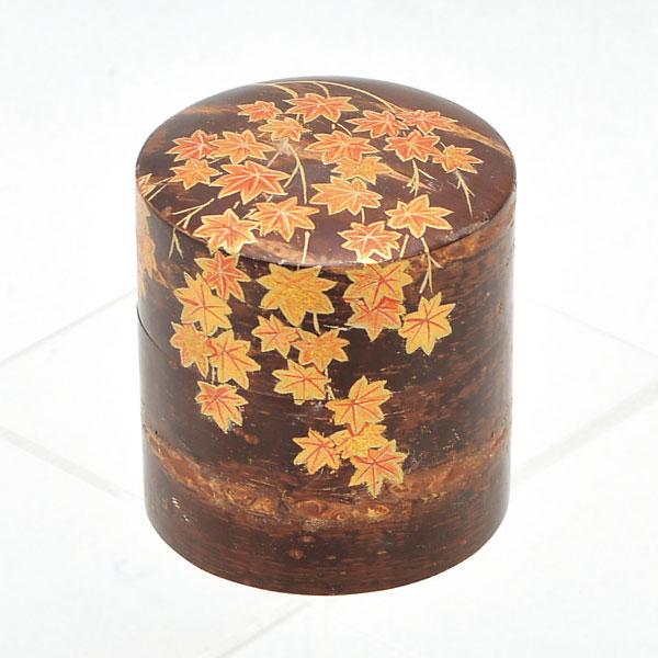 茶道具 桜生地 クリアランスsale 期間限定 中次 佐々木麗峰作 紅葉蒔絵 商品追加値下げ在庫復活