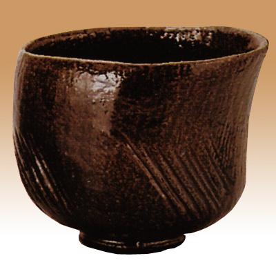 茶道具 楽茶碗 初代長左衛門 飴釉茶碗 銘「聖」写佐々木昭楽作